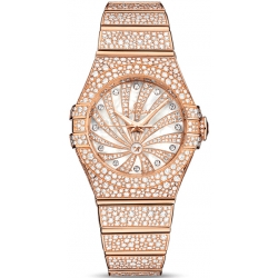 Omega Luxury Edition Womens All Diamond Watch 123.55.31.20.55.006