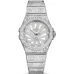 Omega Luxury Edition Womens White Gold Watch 123.55.31.20.55.007