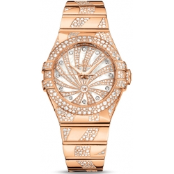Omega Luxury Edition Womens Diamond Watch 123.55.31.20.55.008