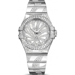 Omega Luxury Edition Womens Diamond Watch 123.55.31.20.55.009