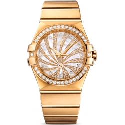 Omega Luxury Edition Gold Bracelet Watch 123.55.35.20.55.001