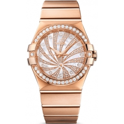 Omega Luxury Edition Rose Gold Diamond Watch 123.55.35.20.55.002