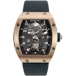 Richard Mille Mens Rose Gold Case Tourbillon Watch RM 002 V2