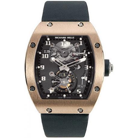 Richard Mille Mens Rose Gold Case Tourbillon Watch RM 002 V2