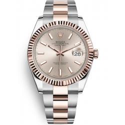 Rolex Datejust 41 Steel Everose Gold Sundust Dial Oyster Watch 126331