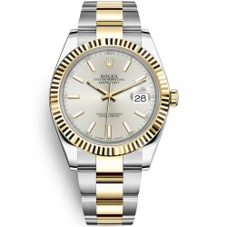 Rolex Datejust 41 Steel Yellow Gold Silver Dial Oyster Watch 126333