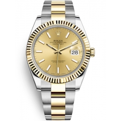Rolex Datejust 41 Steel Yellow Gold Champagne Dial Oyster Watch 126333