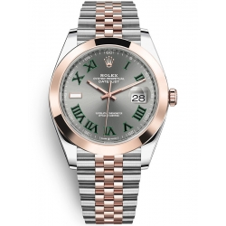 Rolex Datejust 41 Steel Everose Gold Slate Dial Jubilee Watch 126301