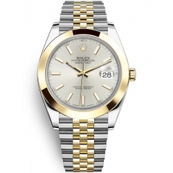 Rolex Datejust 41 Steel Yellow Gold Silver Dial Jubilee Watch 126303