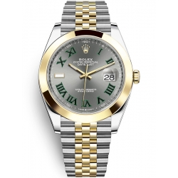 Rolex Datejust 41 Steel Yellow Gold Slate Dial Jubilee Watch 126303