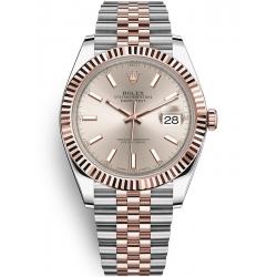 Rolex Datejust 41 Steel Everose Gold Sundust Dial Jubilee Watch 126331
