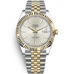 Rolex Datejust 41 Steel Yellow Gold Silver Dial Jubilee Watch 126333
