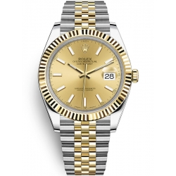 Rolex Datejust 41 Steel Yellow Gold Champagne Dial Jubilee Watch 126333