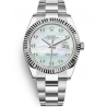 126334-0019 Rolex Datejust Steel 18K White Gold Diamond MOP Dial Oyster Watch 41mm