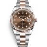 126331-0003 Rolex Datejust Steel 18K Everose Gold Diamond Chocolate Dial Oyster Watch 41mm