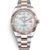 126331-0013 Rolex Datejust Steel 18K Everose Gold Diamond White MOP Dial Oyster Watch 41mm