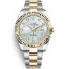 126333-0017 Rolex Datejust Steel 18K Yellow Gold Diamond MOP Dial Oyster Watch 41mm