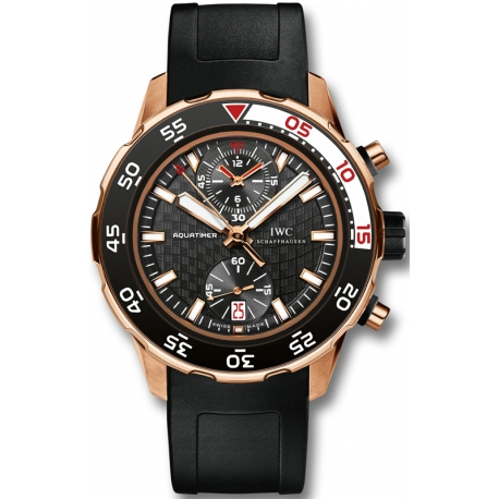 IWC Aquatimer Chronograph Mens Rose Gold Watch IW376905