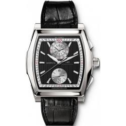 IWC Da Vinci Chronograph Mens Black Dial Steel Watch IW376413