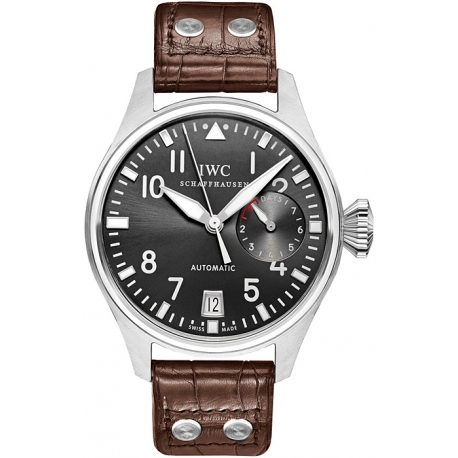IWC Pilots Automatic Grey Dial White Gold Watch IW500402