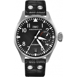 IWC Pilot Black Dial Mens Steel Automatic Watch IW500401