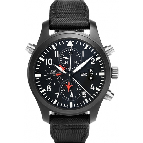 IWC Pilots Double Chronograph Top Gun Titanium Watch IW379901
