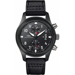 IWC Pilots Top Gun Mens Matte Ceramic Titanium Watch IW388001
