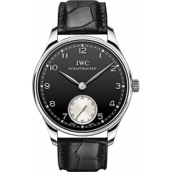 IWC Portofino Hand Wound Black Dial Mens Watch IW5454-04