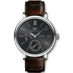 IWC Portofino Hand Wound 8 Days Mens Steel Watch IW510102
