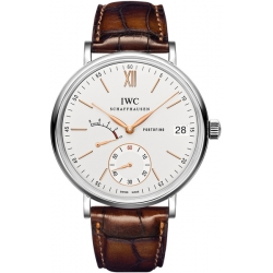 IWC Portofino Hand Wound 8 Days Mens Steel Watch IW510103