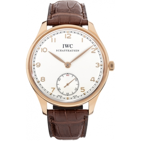 IWC Portuguese Hand Wound Mens 18K Rose Gold Watch IW545409