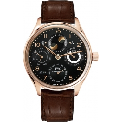 IWC Portuguese Perpetual Calendar Mens Rose Gold Watch IW502122