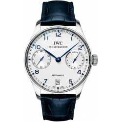 IWC Portuguese Automatic Mens Silver Dial Watch IW500107