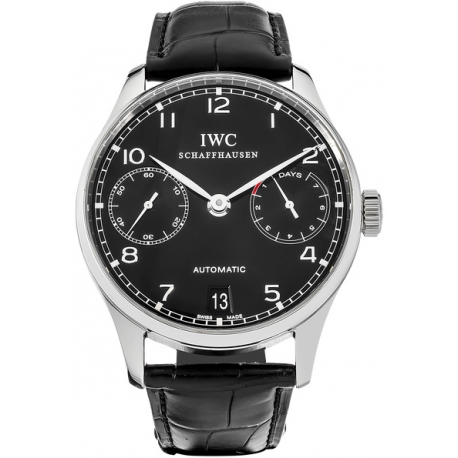 IWC Portuguese 7 Days Automatic Mens Steel Watch IW500109