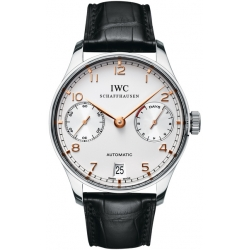 IWC Portuguese Automatic Mens Steel Watch IW500114