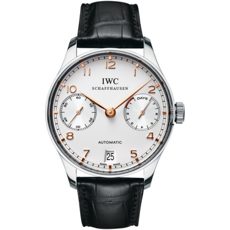 IWC Portuguese Automatic Mens Stainless Steel Watch IW500114