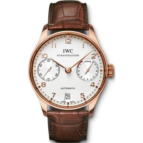 IWC Portuguese Automatic Mens 18K Rose Gold Watch IW5001-13