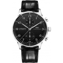 IWC Portuguese Automatic Chrono Black Dial Watch IW371447
