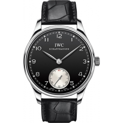 IWC Portuguese Hand Wound Mens Steel Watch IW545404