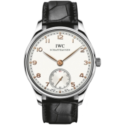IWC Portuguese Hand Wound White Dial Mens Watch IW545408