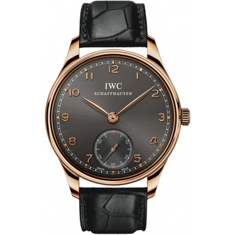 IWC Portuguese Hand Wound 18K Rose Gold Mens Watch IW545406