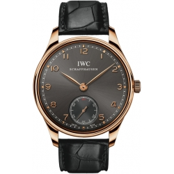 IWC Portuguese Hand Wound Rose Gold Mens Watch IW545406