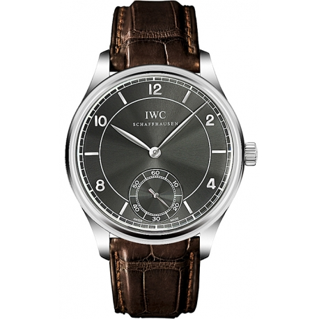 IWC Vintage Portuguese Hand Wound Mens White Gold Watch IW544504