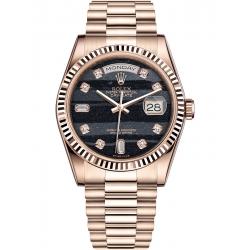 Rolex Day-Date 36 Everose Gold Diamond Ferrite Dial President Watch 118235F