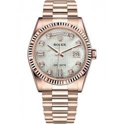 Rolex Day-Date 36 Everose Gold Diamond Oxford Dial President Watch 118235F