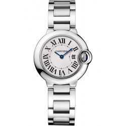 Ballon Bleu de Cartier 28 mm Silver Dial Steel Watch W69010Z4