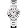 W69010Z4 Ballon Bleu de Cartier 28 mm Silver Dial Steel Watch