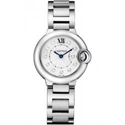 WE902073 Ballon Bleu de Cartier 28 mm Diamond Dial Steel Watch