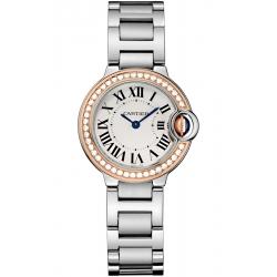 WE902079 Ballon Bleu de Cartier 28 mm 18K Pink Gold Diamond Bezel Watch