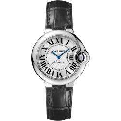 W6920085 Ballon Bleu de Cartier 33 mm Automatic Black Leather Watch